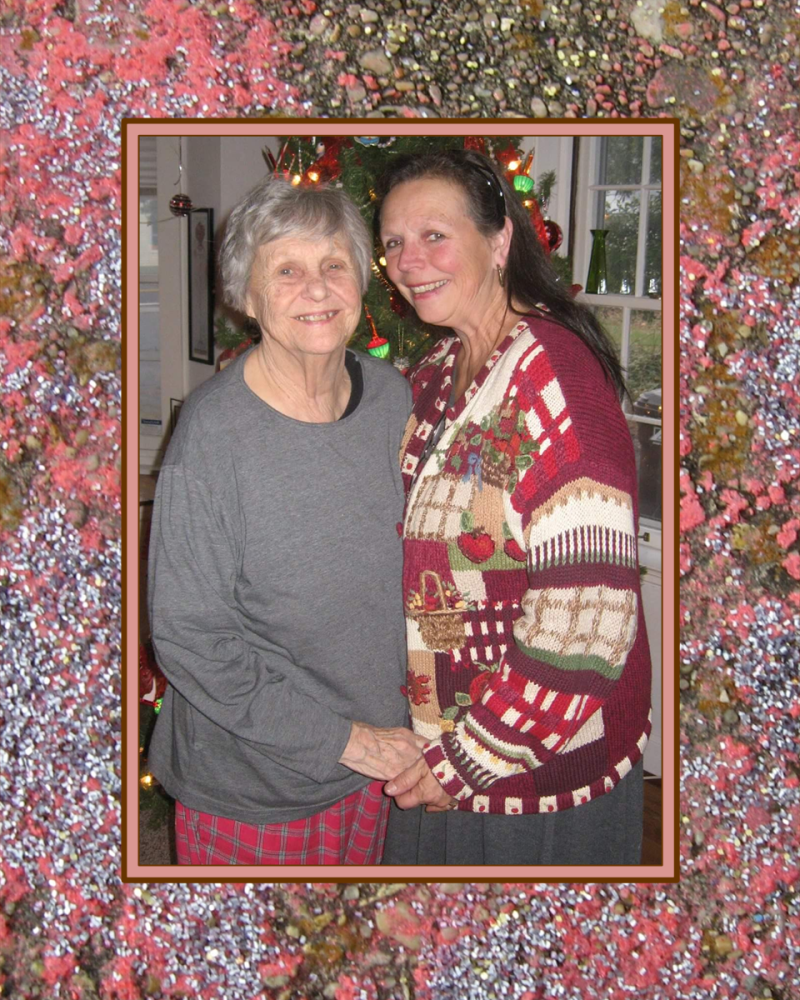 Laury and her mother 2015 matted-2